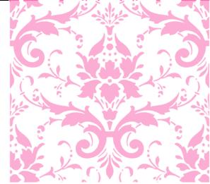 Pink Damask Background Clip Art at Clker.com.