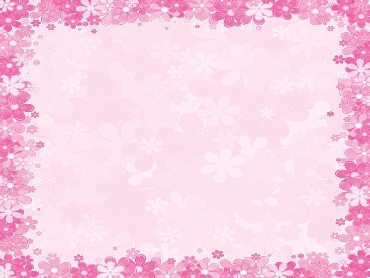 pink floral borders.