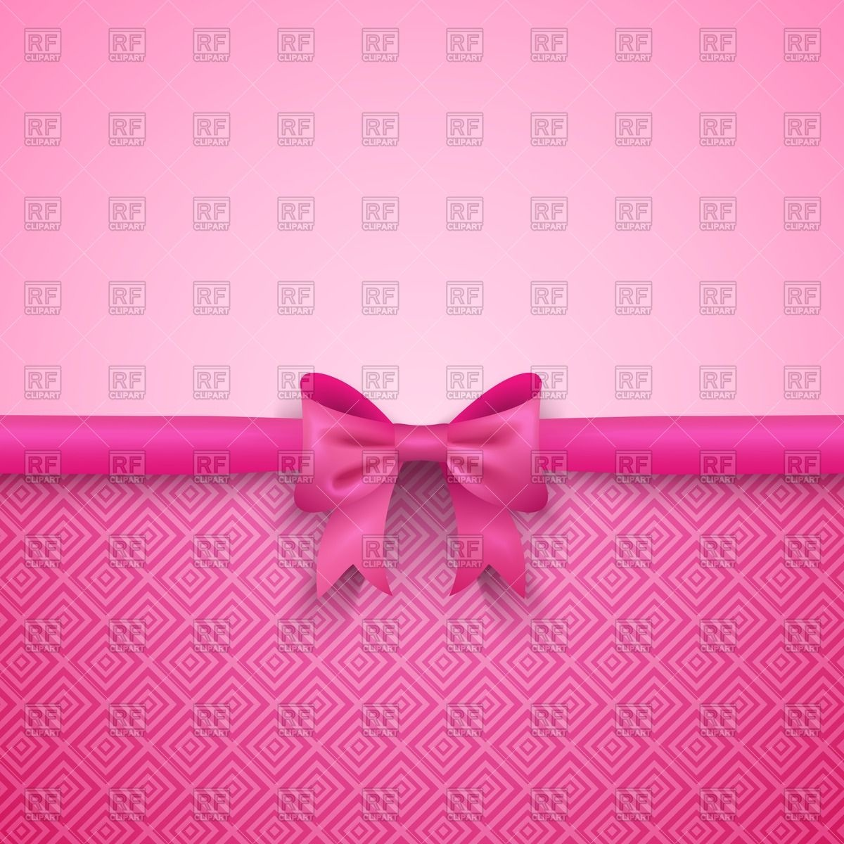Romantic pink background with cute bow Vector Image #40889.