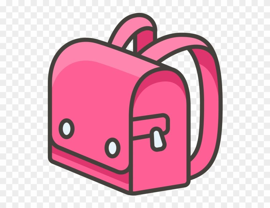 School Backpack Emoji Icon.
