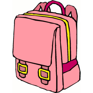Bookbag clipart pink backpack, Bookbag pink backpack.