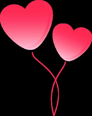 Pink Balloons Clip Art.