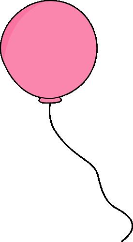 Pink Balloon Clip Art.