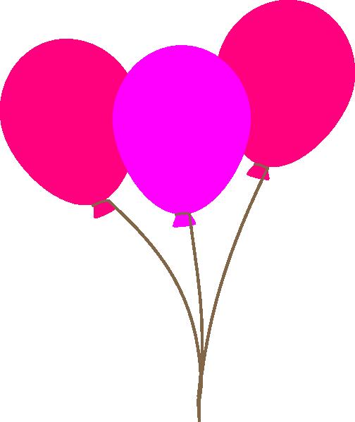 Pink Balloons Clip Art At Clker.com Vector Clip Art.