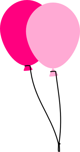 Clipart pink balloons 2 » Clipart Station.