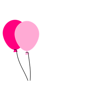 Two Pink Balloons clipart, cliparts of Two Pink Balloons.