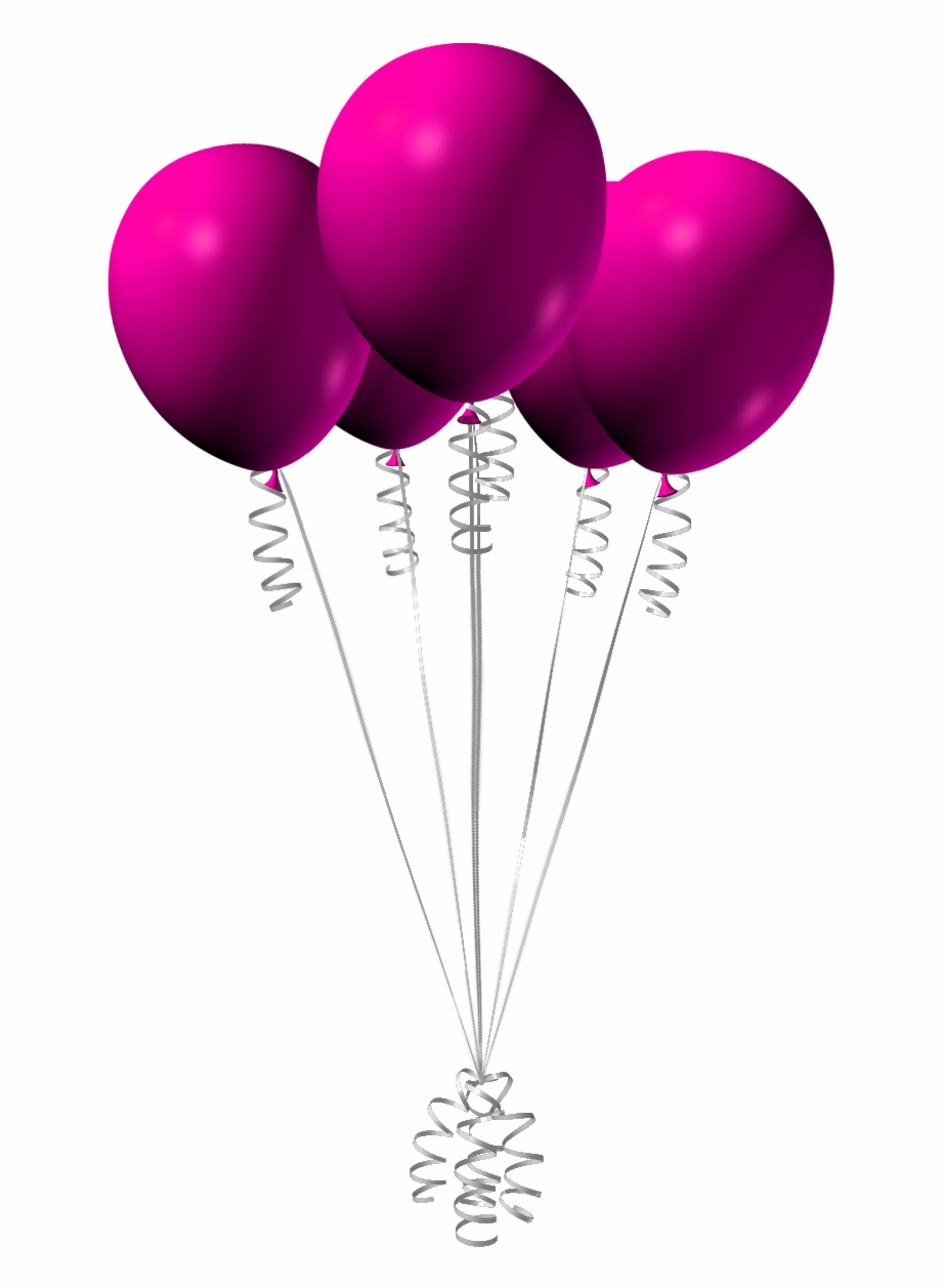 Pink Birthday Balloons Png , Png Download.