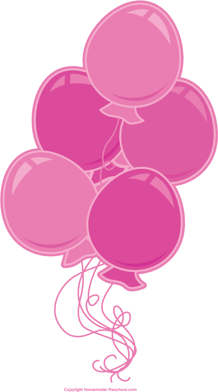 Free Birthday Balloons Clipart.