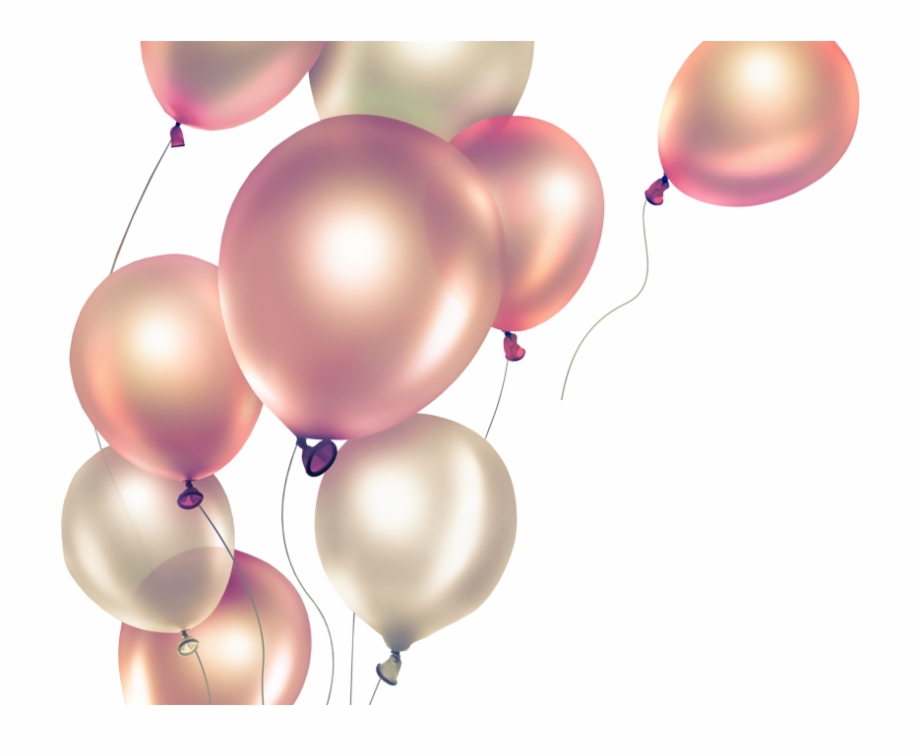 Pink Balloons Png.