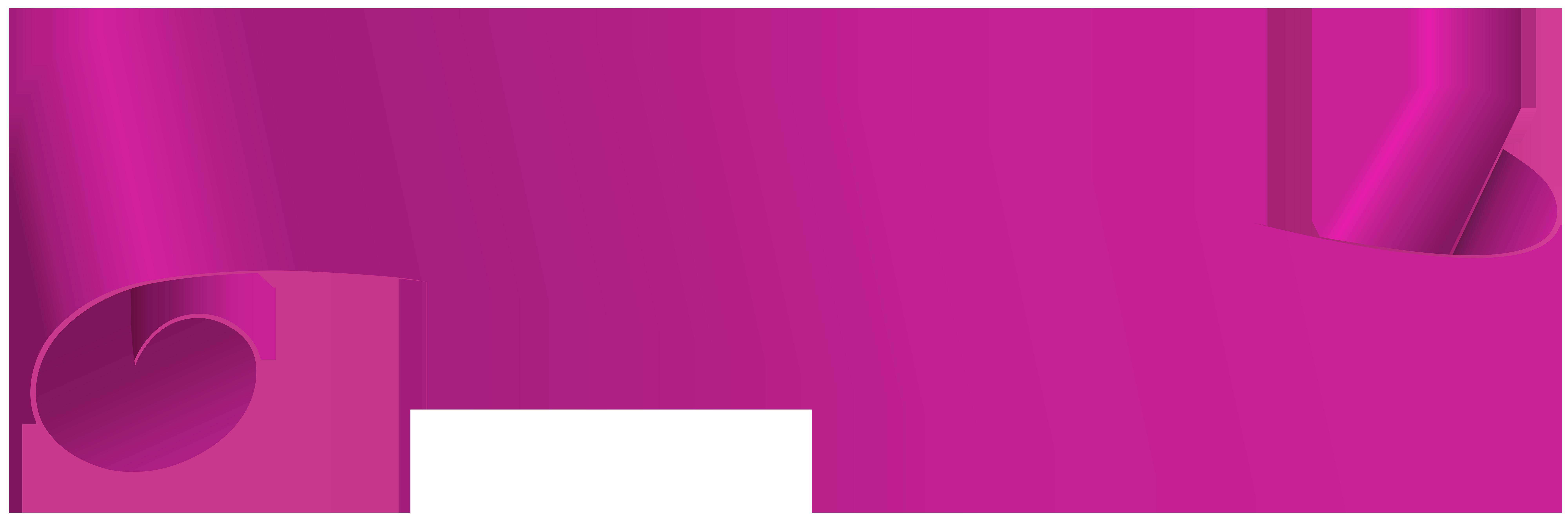 Pink Banner Transparent Clip Art PNG Image.