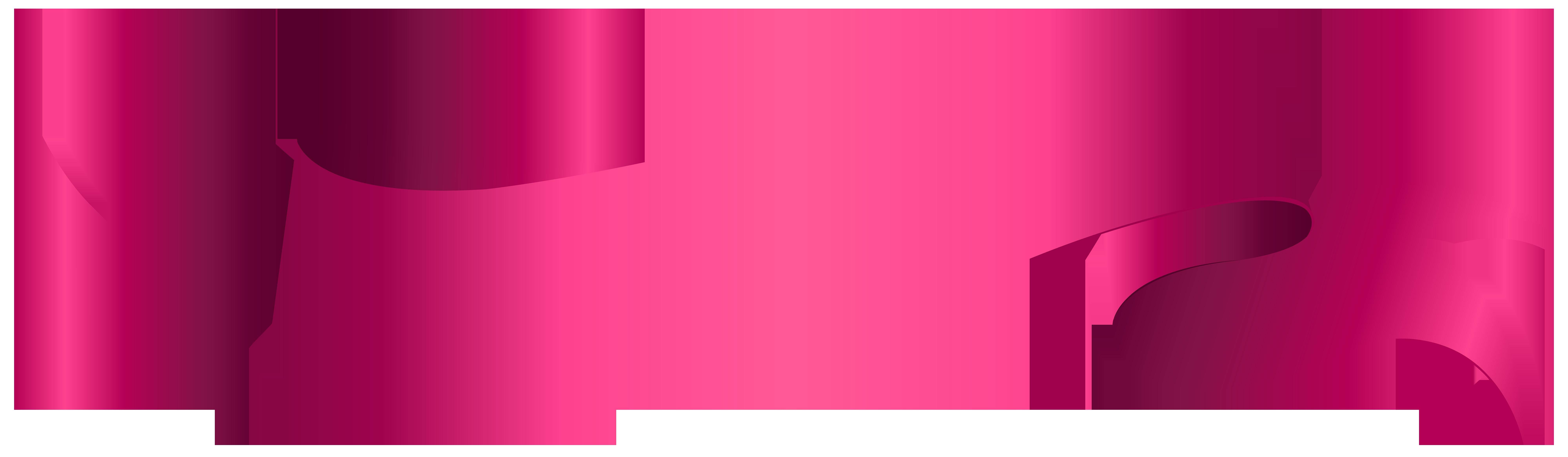 Banner Pink PNG Clip Art Transparent Image.