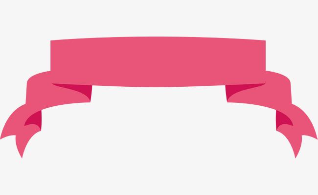 Pink Ribbon Banner, Ribbon Clipart, Banner Clipart, Pink.