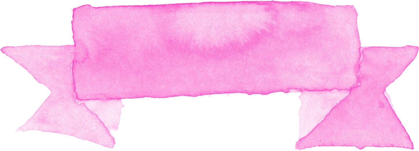 7 Pink Watercolor Ribbon Banner (PNG Transparent).