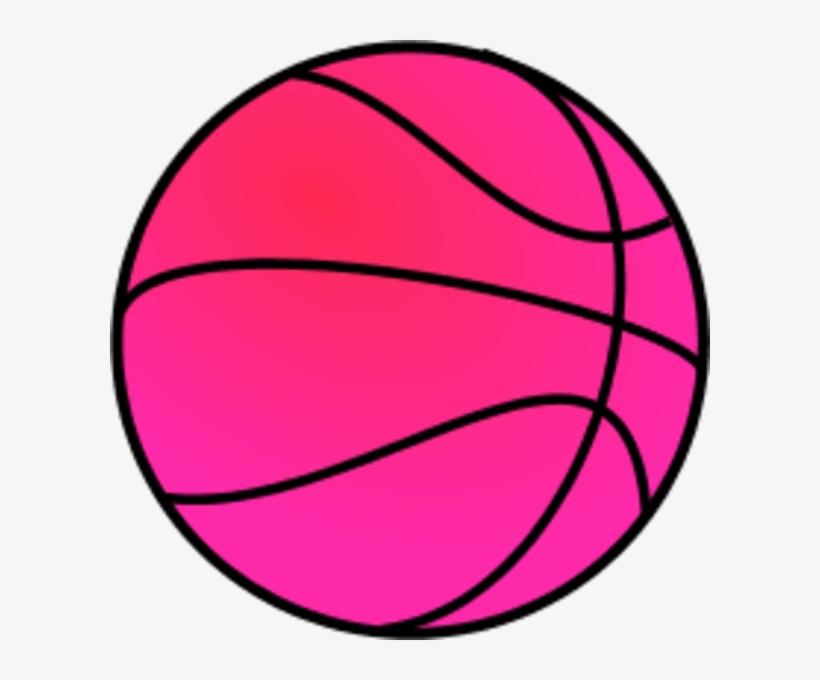 Pink Basketball Clipart.