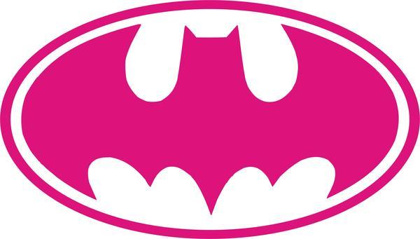 Batman Logo Oval Vinyl Decal.