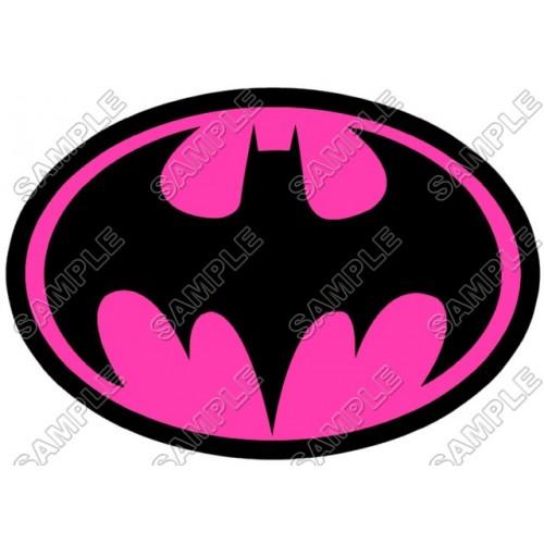 Batman Logo Pink T Shirt Iron on Transfer Decal ~#14 (Batman) by  www.topironons.com.