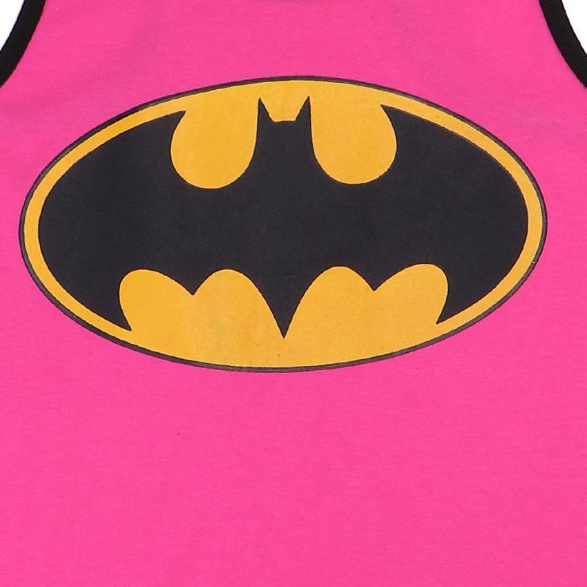 round neck batman logo pink.