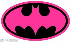 Details about Pink Batman logo with YOUR NAME Iron On Transfers A4 or A5,  bargain price.