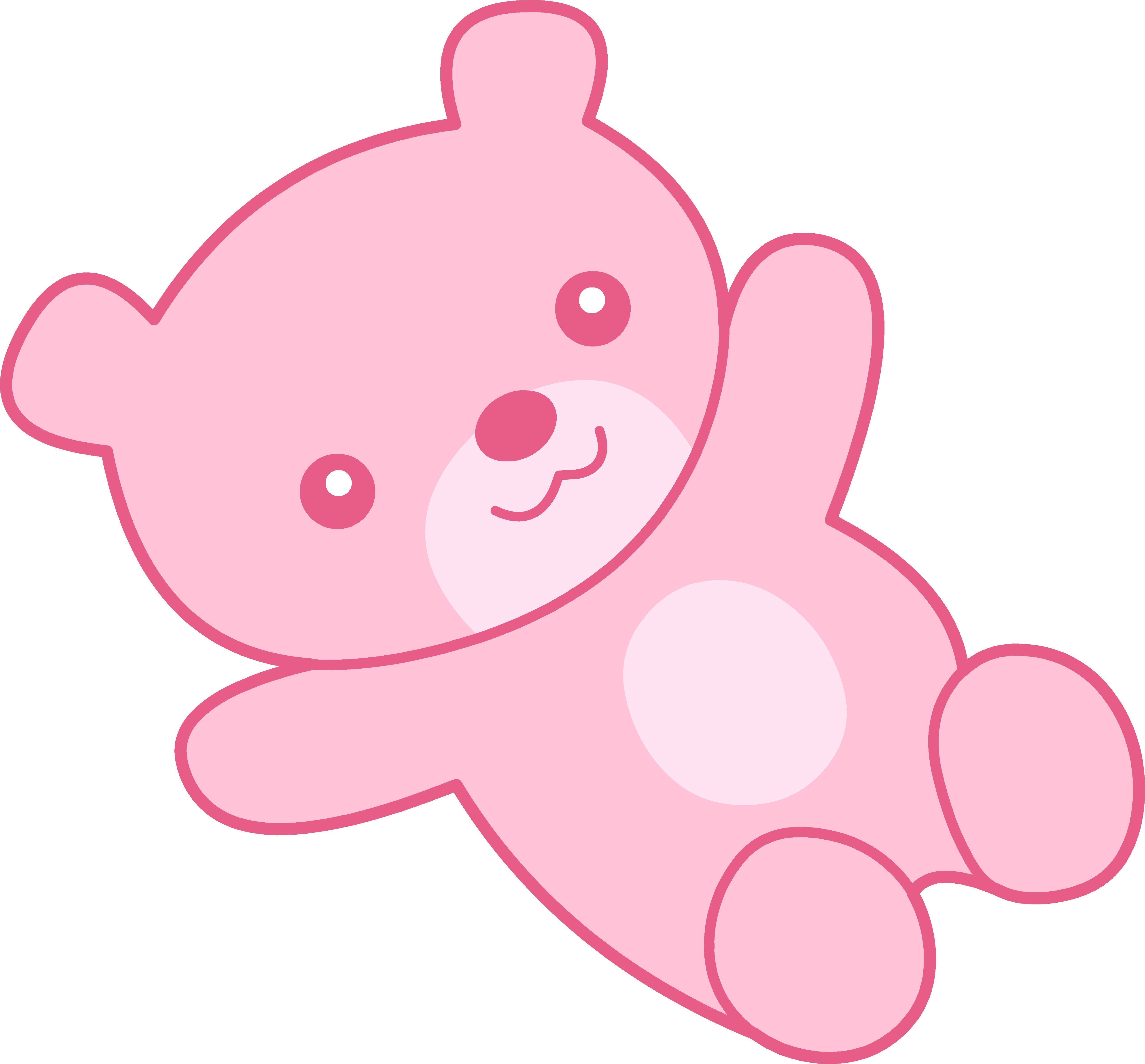 Cute Pink Teddy Bear Clipart.