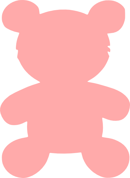 Pink Bear Clip Art at Clker.com.