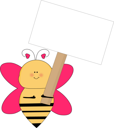 Pink Bee Cliparts.