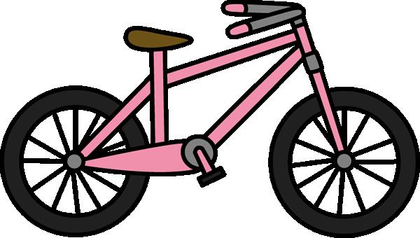 Bike pink bicycle clipart kid.