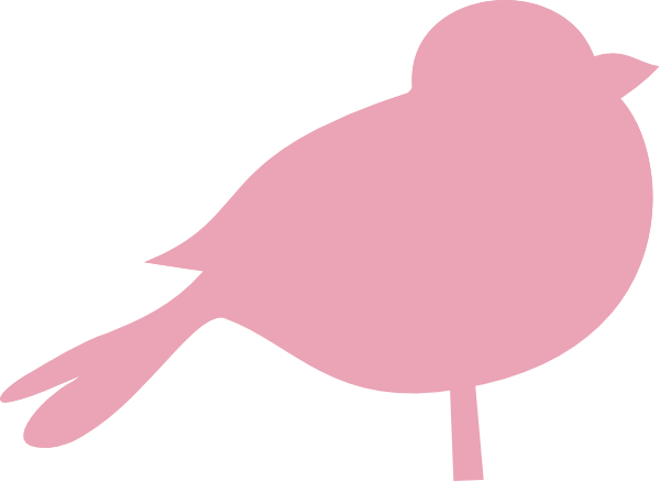Pink Chubby Bird 2 Clip Art at Clker.com.