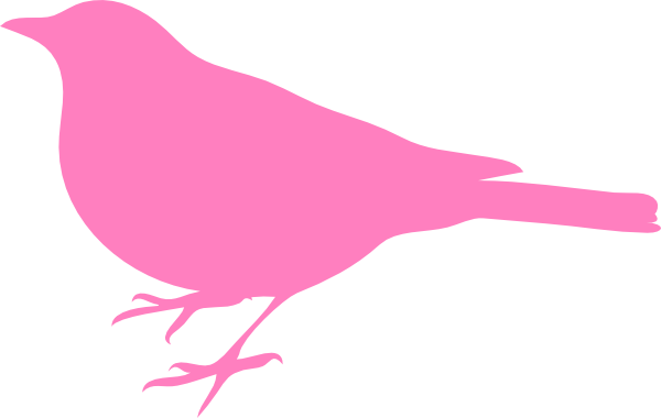 Pink Bird Silhouette PNG, SVG Clip art for Web.
