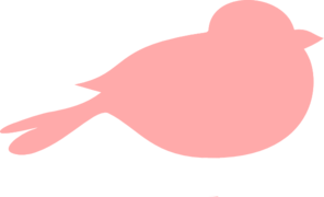 Pink Bird PNG, SVG Clip art for Web.