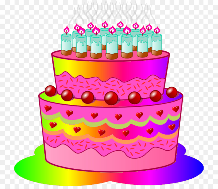 Pink Birthday Cake clipart.