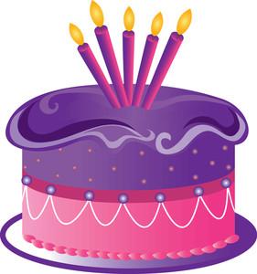 Free Birthday Cake Clip Art Image.
