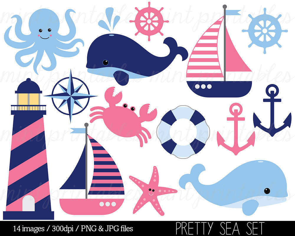 Pink whale clipart.