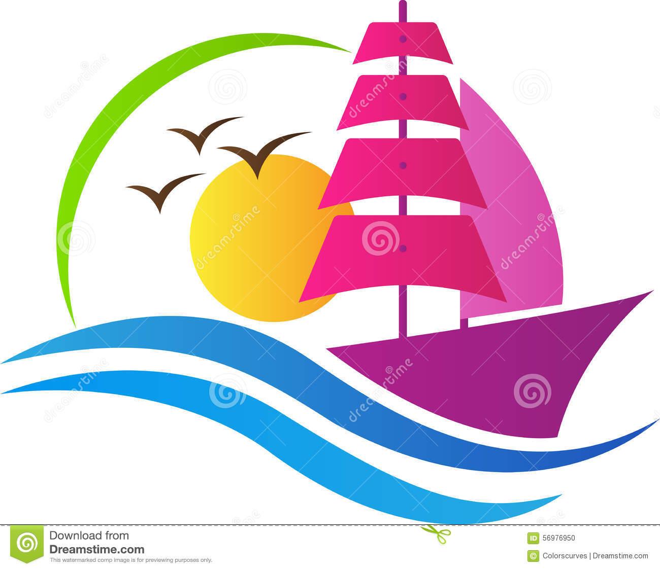 Boat Logo Stock Image.