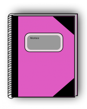 Cute Pink Book Clipart.