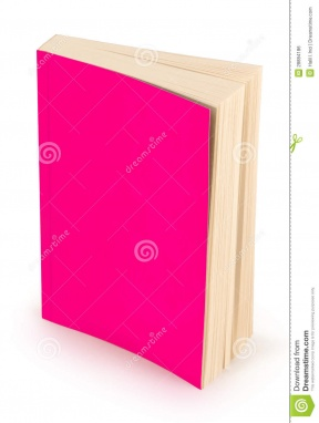 Cute Pink Book Clipart.