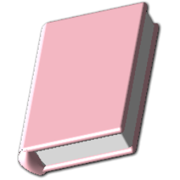 Pink Book Icon.
