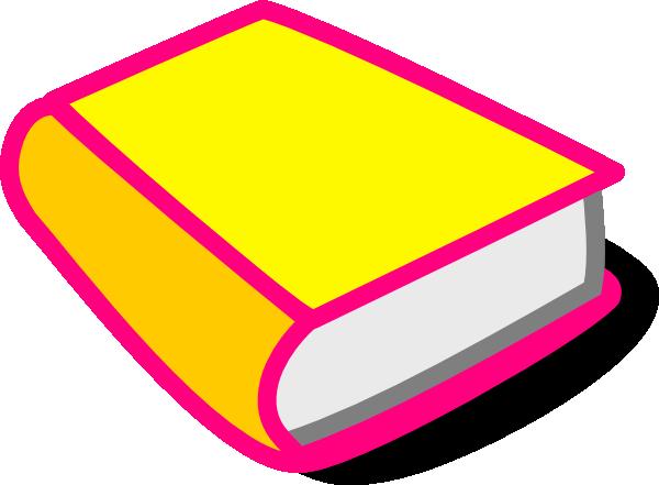 Yellow & Pink Book Clip Art at Clker.com.