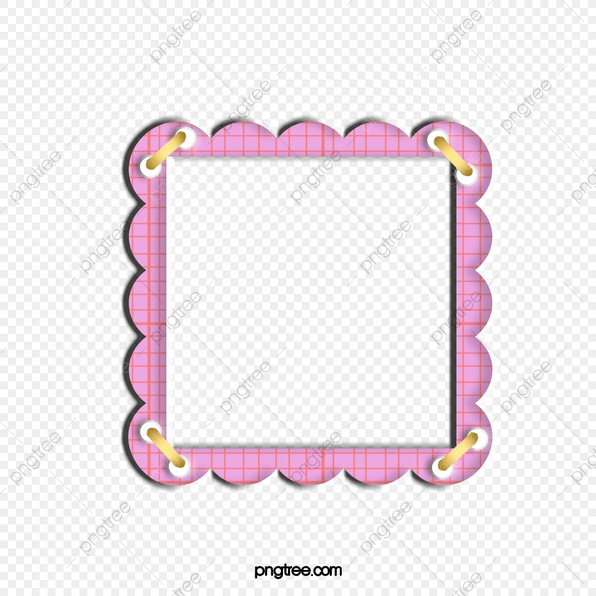 Cute Pink Border, Cute Clipart, Border, Frame PNG.