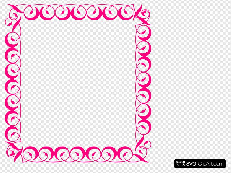 Stylish,pink,border Clip art, Icon and SVG.