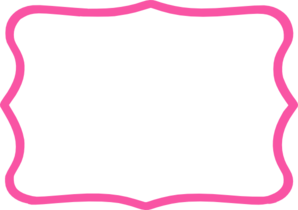 Hot pink border clipart.