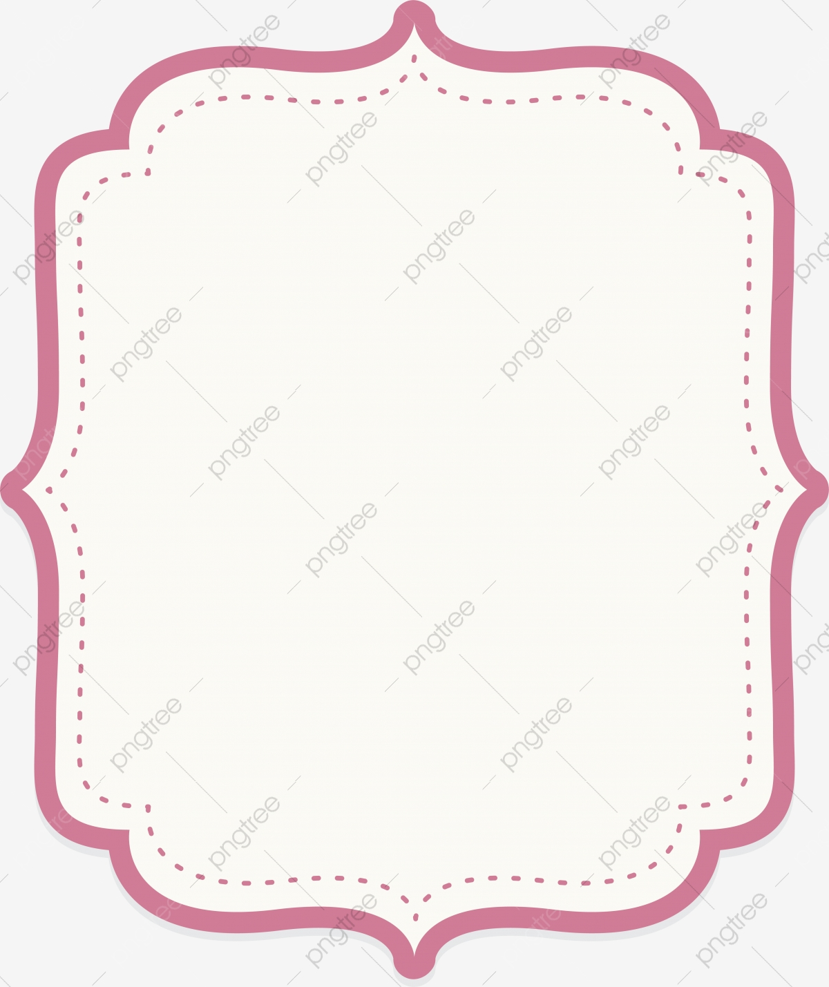 Pink Text Border, Border, Border, Border PNG and Vector with.