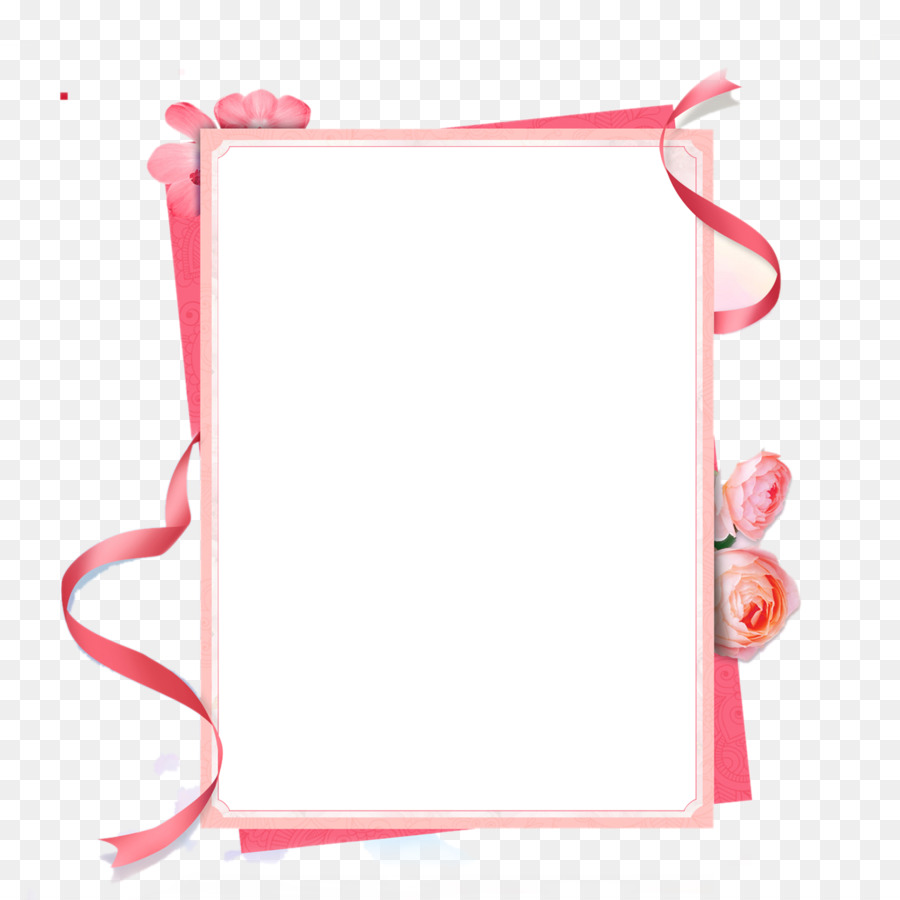 Pink Ribbon Picture Frame.
