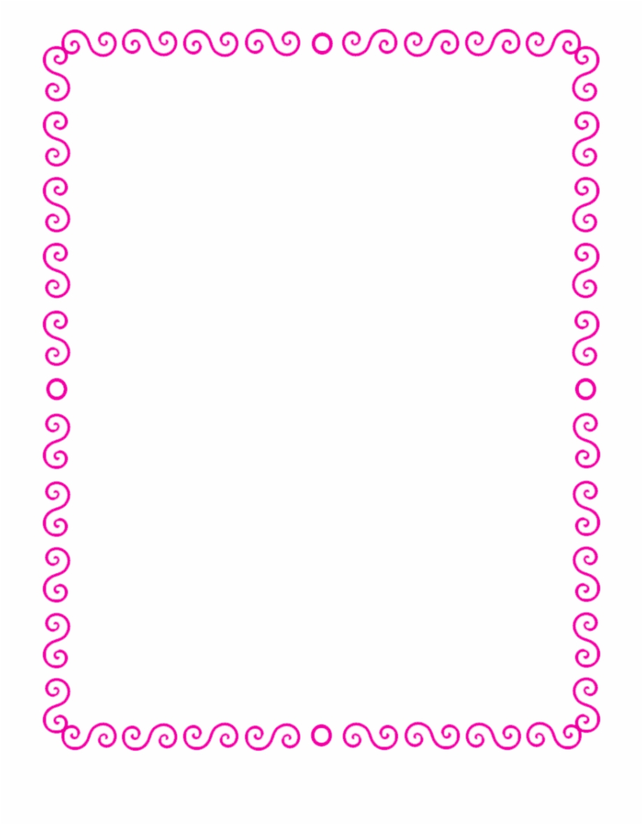 Pink Borders Clipart.