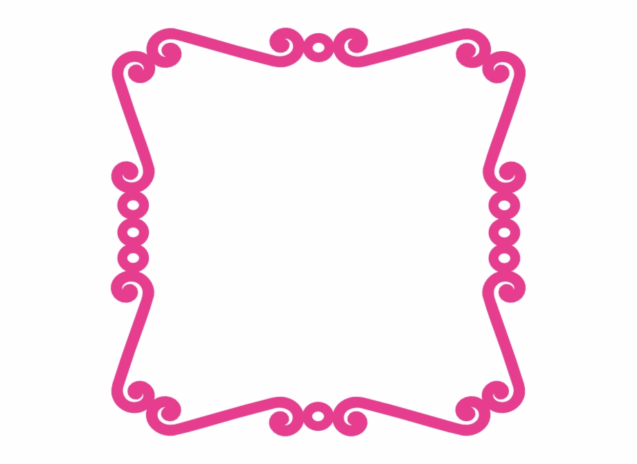 Scrolly Frame Pink Clip Art At Clker.
