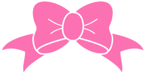 Hot Pink Bow clip art.
