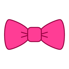 Free Pink Bow Tie with dots Clipart Image Illustoon.