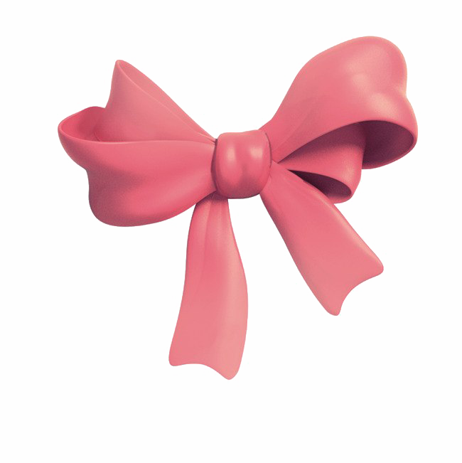 Pink Bow PNG Clipart Background.