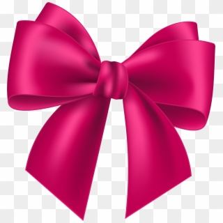 Pink Bow PNG Transparent For Free Download.