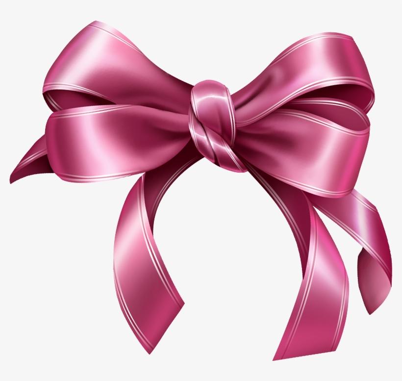 Pink Ribbon Bow Png.