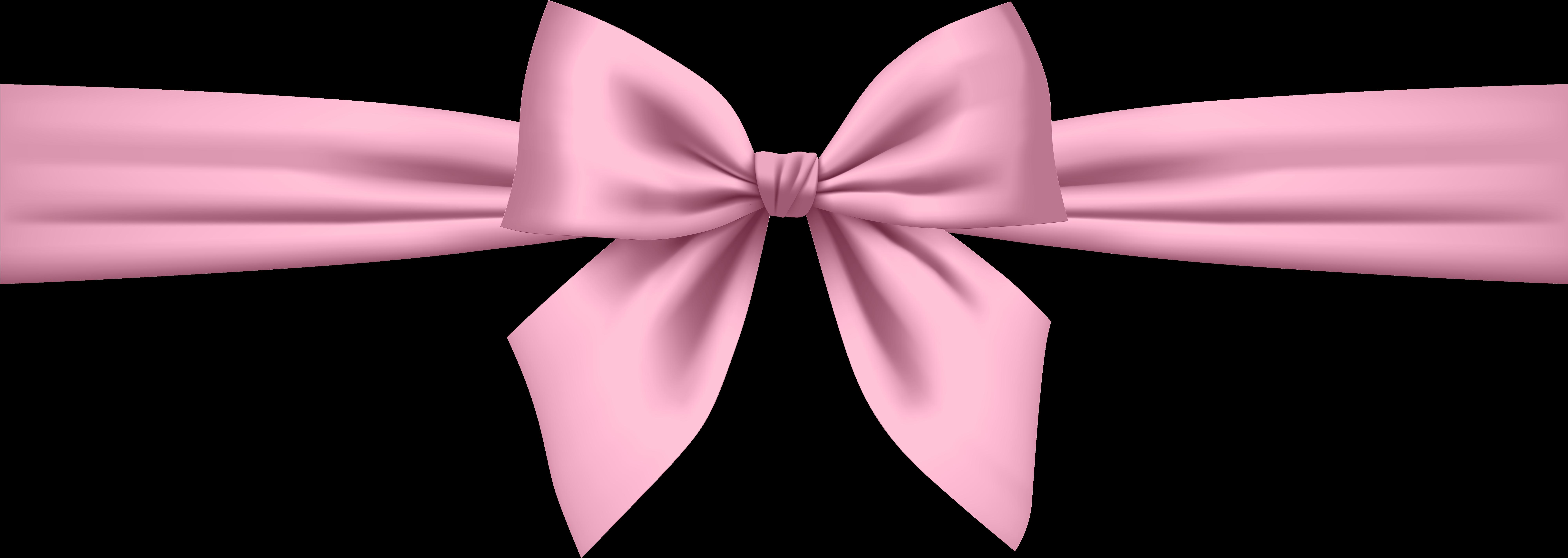 HD Soft Pink Bow Transparent Png Clip Art.